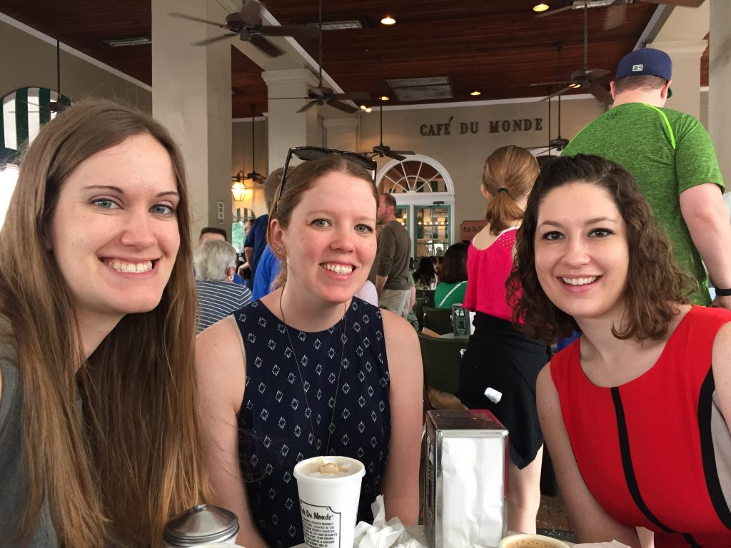 Kelly, Lexie, Ellen at Cafe Dumonde